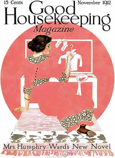 Roaring 1920s Coles Phillips Good Housekeeping Nov 1912 Copyright | Roaring 1920s Ad Art and Magazine Cover Art