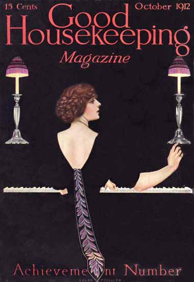 Roaring 1920s Coles Phillips Good Housekeeping October 1912 Copyright   Roaring 1920s Ad Art and Magazine Cover Art