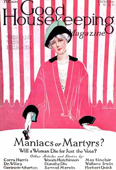 Roaring 1920s Coles Phillips Good Housekeeping October 1913 Copyright | Roaring 1920s Ad Art and Magazine Cover Art