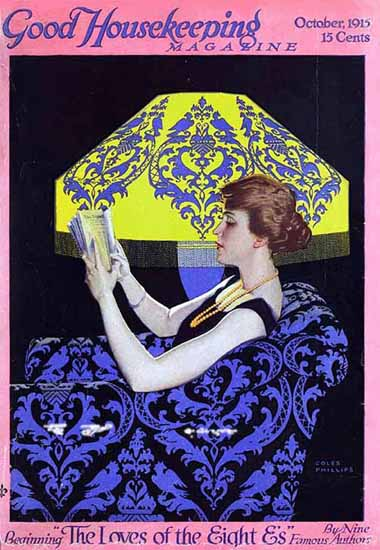 Roaring 1920s Coles Phillips Good Housekeeping October 1915 Copyright | Roaring 1920s Ad Art and Magazine Cover Art