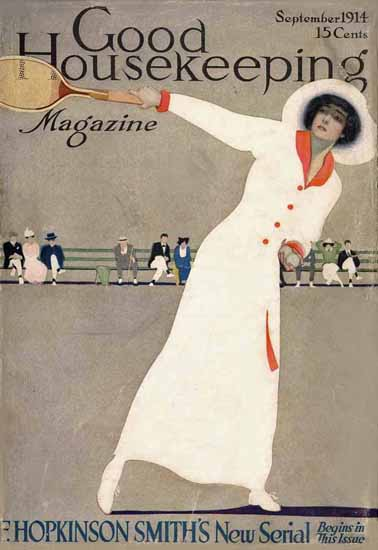 Roaring 1920s Coles Phillips Good Housekeeping Sept 1914 Copyright | Roaring 1920s Ad Art and Magazine Cover Art