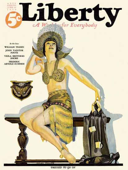 Roaring 1920s Coles Phillips Liberty Magazine June 21 1924 | Roaring 1920s Ad Art and Magazine Cover Art