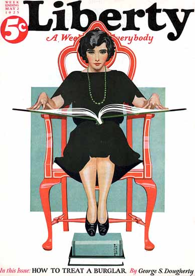 Roaring 1920s Coles Phillips Liberty Magazine May 2 1925   Roaring 1920s Ad Art and Magazine Cover Art