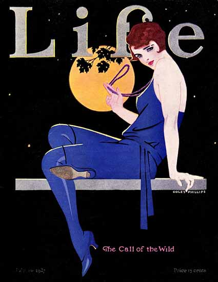 Roaring 1920s Coles Phillips Life Cover Call of Wild 1927-07-14 Copyright | Roaring 1920s Ad Art and Magazine Cover Art