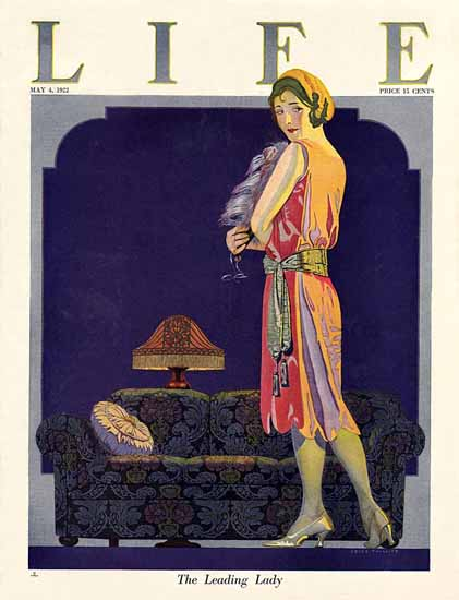 Roaring 1920s Coles Phillips Life Cover Leading 1922-05-04 Copyright | Roaring 1920s Ad Art and Magazine Cover Art
