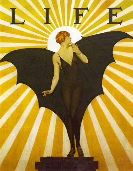 Roaring 1920s Coles Phillips Life Magazine 1927 Flapper Copyright | Roaring 1920s Ad Art and Magazine Cover Art