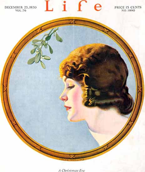 Roaring 1920s Coles Phillips Life Magazine Xmas 1920-12-23 Copyright   Roaring 1920s Ad Art and Magazine Cover Art