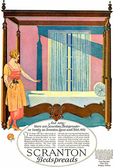 Roaring 1920s Coles Phillips Scranton Bedspreads 1923 | Roaring 1920s Ad Art and Magazine Cover Art