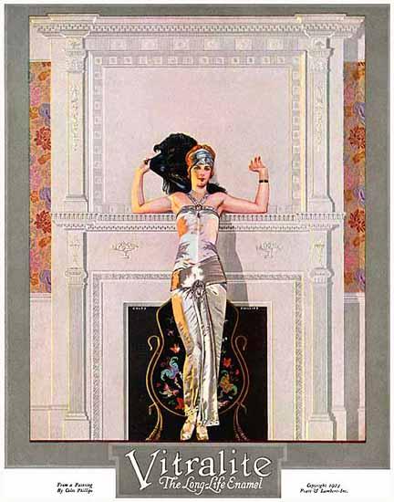 Roaring 1920s Coles Phillips Vitralite Long-Life Enamel 1923 | Roaring 1920s Ad Art and Magazine Cover Art