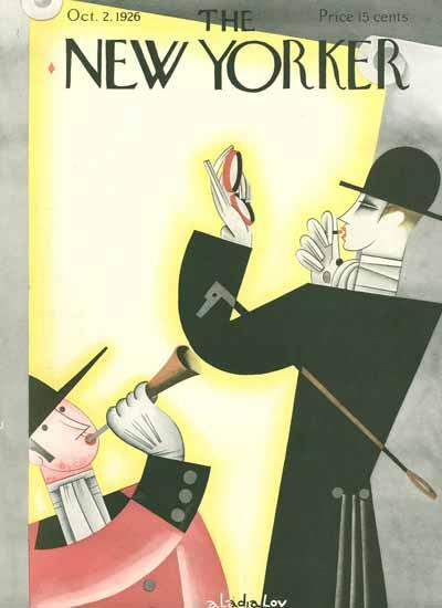 Roaring 1920s Constantin Alajalov The New Yorker 1926_10_02 Copyright | Roaring 1920s Ad Art and Magazine Cover Art