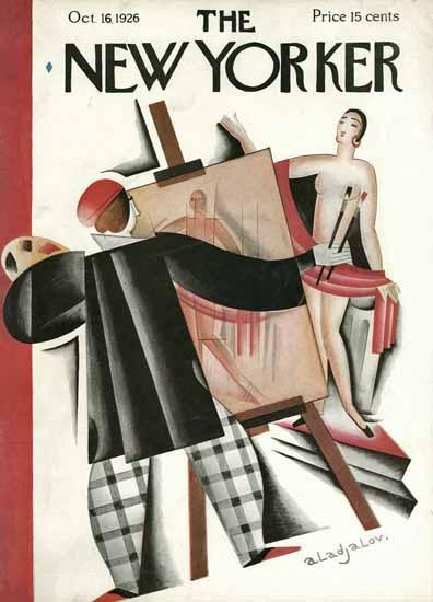 Roaring 1920s Constantin Alajalov The New Yorker 1926_10_16 Copyright | Roaring 1920s Ad Art and Magazine Cover Art