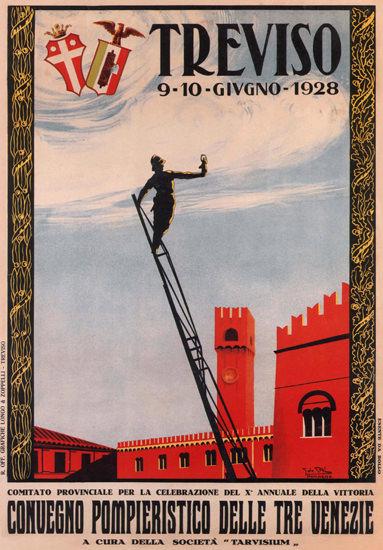 Roaring 1920s Convegno Pomieristico Treviso 1928 Italy Italia   Roaring 1920s Ad Art and Magazine Cover Art