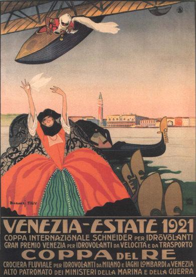 Roaring 1920s Coppa Del Re Venezia-Estate 1921 Italy Italia | Roaring 1920s Ad Art and Magazine Cover Art
