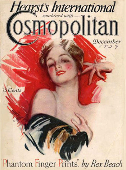 Roaring 1920s Cosmopolitan Magazine Copyright 1929 Finger Prints | Roaring 1920s Ad Art and Magazine Cover Art