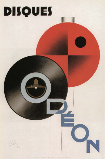 Roaring 1920s Disques Odeon France Odeon Records 1929 | Roaring 1920s Ad Art and Magazine Cover Art