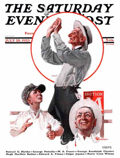 Roaring 1920s EM Jackson Artist Saturday Evening Post 1923_07_28 | Roaring 1920s Ad Art and Magazine Cover Art