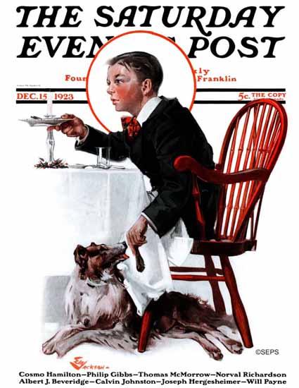 Roaring 1920s EM Jackson Artist Saturday Evening Post 1923_12_15 | Roaring 1920s Ad Art and Magazine Cover Art