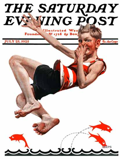 Roaring 1920s EM Jackson Artist Saturday Evening Post 1925_07_25 | Roaring 1920s Ad Art and Magazine Cover Art
