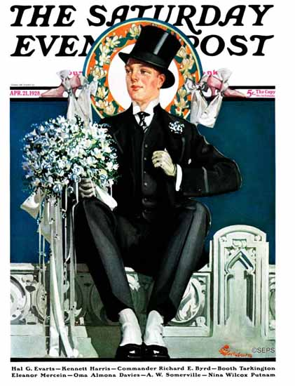 Roaring 1920s EM Jackson Artist Saturday Evening Post 1928_04_21 | Roaring 1920s Ad Art and Magazine Cover Art