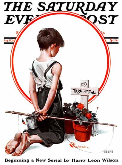 Roaring 1920s EM Jackson Cover Artist Saturday Evening Post 1924_08_16 | Roaring 1920s Ad Art and Magazine Cover Art