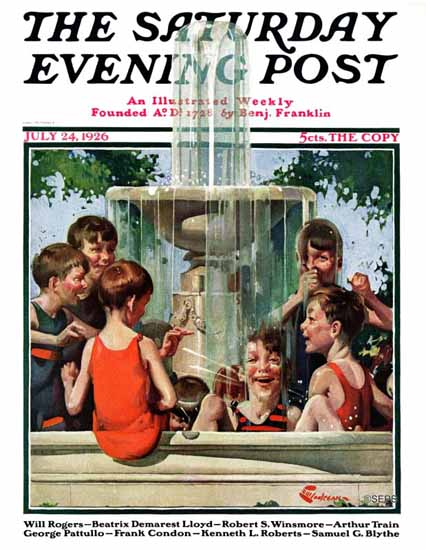 Roaring 1920s EM Jackson Cover Artist Saturday Evening Post 1926_07_24 | Roaring 1920s Ad Art and Magazine Cover Art