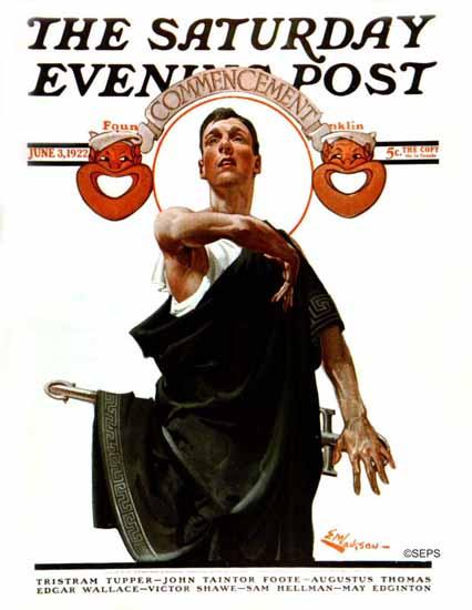 Roaring 1920s EM Jackson Saturday Evening Post 1922_06_03   Roaring 1920s Ad Art and Magazine Cover Art