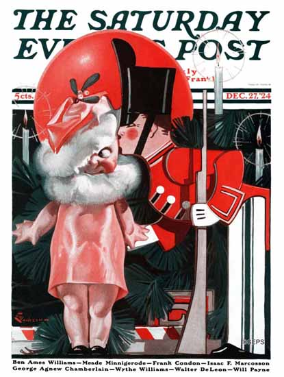 Roaring 1920s EM Jackson Saturday Evening Post 1924_12_27 | Roaring 1920s Ad Art and Magazine Cover Art
