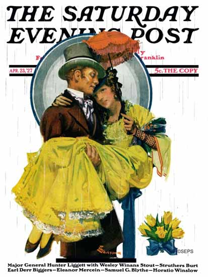 Roaring 1920s EM Jackson Saturday Evening Post 1927_04_23 | Roaring 1920s Ad Art and Magazine Cover Art