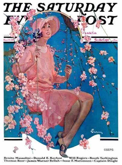 Roaring 1920s EM Jackson Saturday Evening Post 1928_05_19 | Roaring 1920s Ad Art and Magazine Cover Art