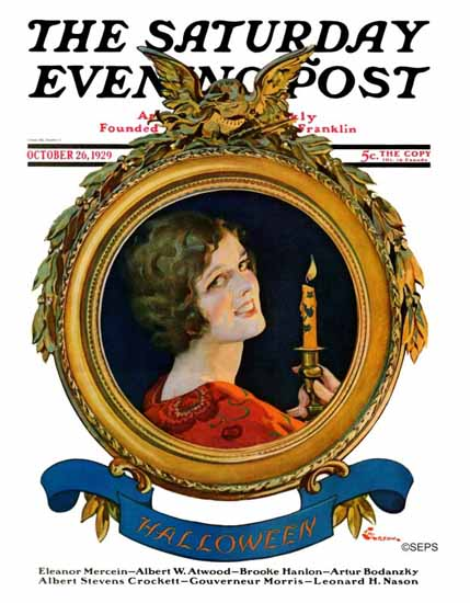 Roaring 1920s EM Jackson Saturday Evening Post Halloween 1929_10_26 | Roaring 1920s Ad Art and Magazine Cover Art