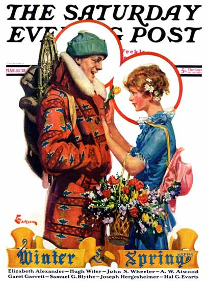 Roaring 1920s EM Jackson Saturday Evening Post Spring 1928_03_10 | Roaring 1920s Ad Art and Magazine Cover Art