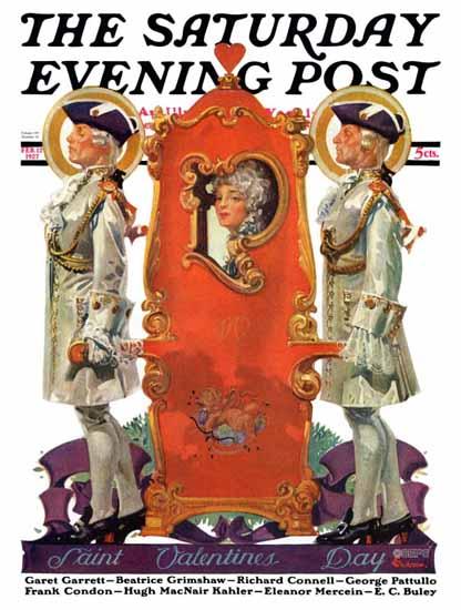 Roaring 1920s EM Jackson Saturday Evening Post Valentine 1927_02_12 | Roaring 1920s Ad Art and Magazine Cover Art