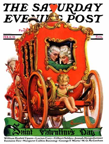 Roaring 1920s EM Jackson Saturday Evening Post Valentine 1928_02_11 | Roaring 1920s Ad Art and Magazine Cover Art