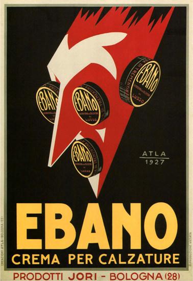 Roaring 1920s Ebano Crema Per Calzature Bologna 1927 Italia | Roaring 1920s Ad Art and Magazine Cover Art