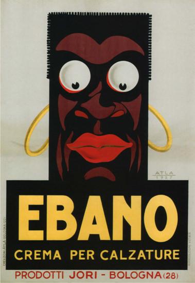 Roaring 1920s Ebano Crema Per Calzature Bologna 1927 Moor | Roaring 1920s Ad Art and Magazine Cover Art