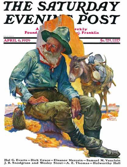 Roaring 1920s Edgar Franklin Wittmack Saturday Evening Post 1929_04_06 | Roaring 1920s Ad Art and Magazine Cover Art