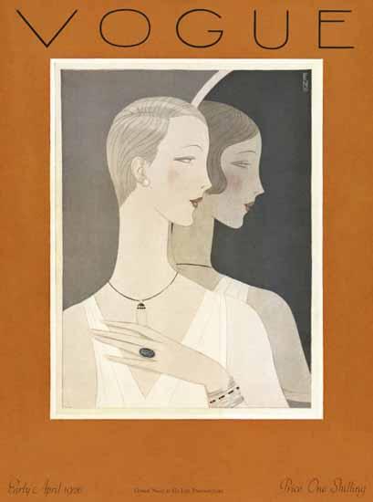 Roaring 1920s Eduardo Garcia Benito Vogue Cover 1926-04-01 Copyright | Roaring 1920s Ad Art and Magazine Cover Art