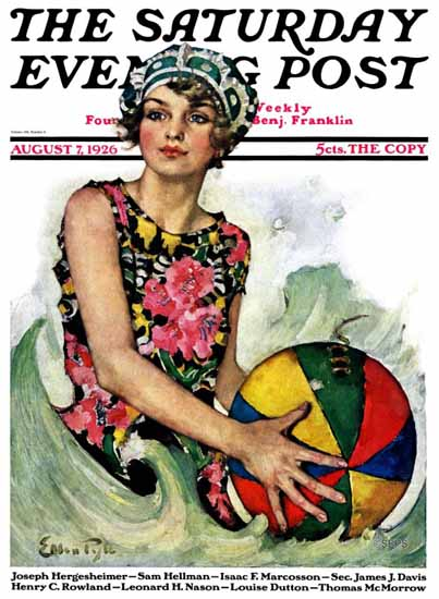 Roaring 1920s Ellen Pyle Cover Artist Saturday Evening Post 1926_08_07 | Roaring 1920s Ad Art and Magazine Cover Art
