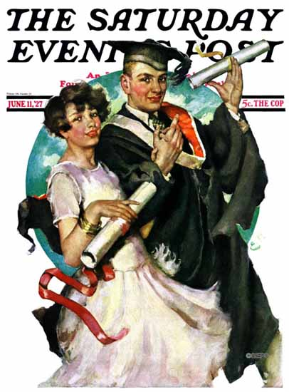 Roaring 1920s Ellen Pyle Cover Artist Saturday Evening Post 1927_06_11 | Roaring 1920s Ad Art and Magazine Cover Art