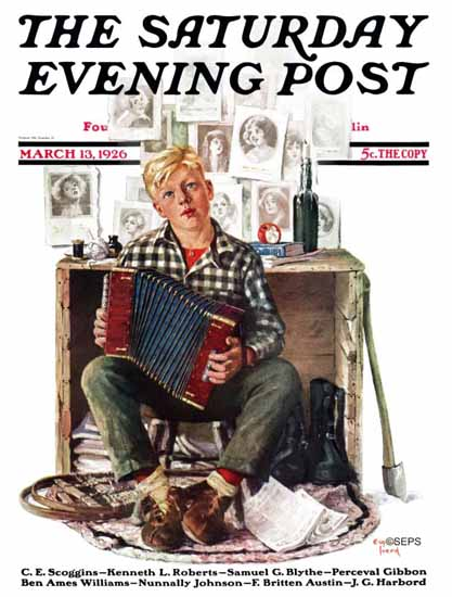 Roaring 1920s Eugene Iverd Saturday Evening Post 1926_03_13 | Roaring 1920s Ad Art and Magazine Cover Art