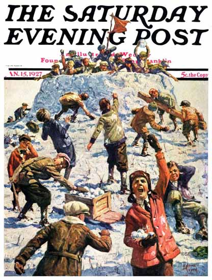 Roaring 1920s Eugene Iverd Saturday Evening Post 1927_01_15 | Roaring 1920s Ad Art and Magazine Cover Art