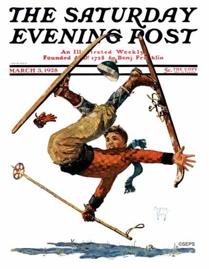 Roaring 1920s Eugene Iverd Saturday Evening Post 1928_03_03   Roaring 1920s Ad Art and Magazine Cover Art