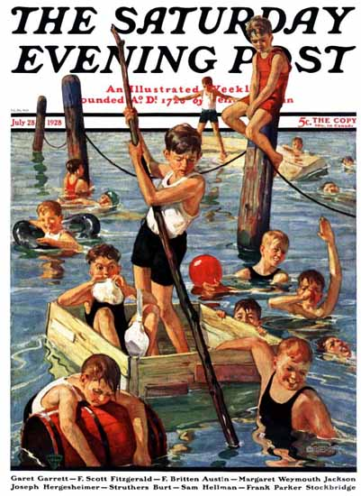 Roaring 1920s Eugene Iverd Saturday Evening Post 1928_07_28 | Roaring 1920s Ad Art and Magazine Cover Art