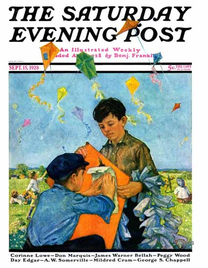 Roaring 1920s Eugene Iverd Saturday Evening Post 1928_09_15 | Roaring 1920s Ad Art and Magazine Cover Art