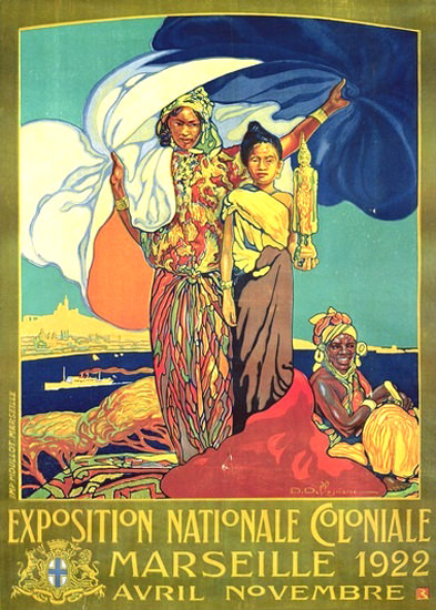 Roaring 1920s Exposition Nationale Coloniale Marseille 1922   Roaring 1920s Ad Art and Magazine Cover Art