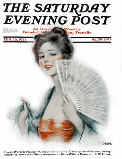 Roaring 1920s F Earl Christy Saturday Evening Post Cover 1921_02_26 | Roaring 1920s Ad Art and Magazine Cover Art