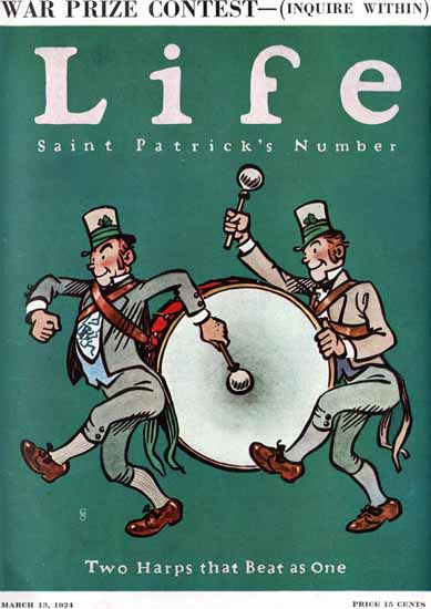 Roaring 1920s FG Cooper Life Cover Saint Patrick 1924-03-13 Copyright | Roaring 1920s Ad Art and Magazine Cover Art