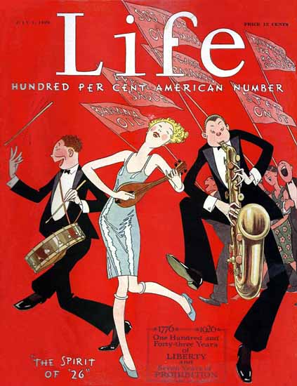 Roaring 1920s FG Cooper Life Cover The Spirit of 1926-07-01 Copyright | Roaring 1920s Ad Art and Magazine Cover Art