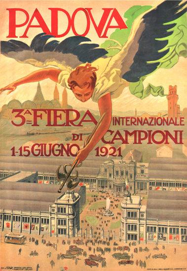 Roaring 1920s Fiera Internazionale Di Campioni Padova 1921 | Roaring 1920s Ad Art and Magazine Cover Art