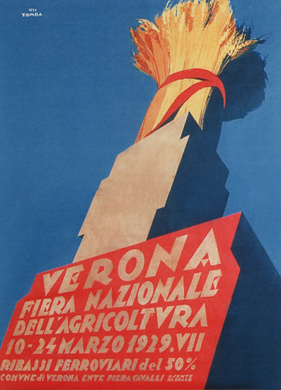 Roaring 1920s Fiera Nazionale Dell Agricoltura Verona 1929 | Roaring 1920s Ad Art and Magazine Cover Art
